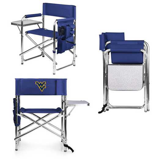809-00-138-834-0: West Virginia Mountaineers - Sports Chair (Navy)
