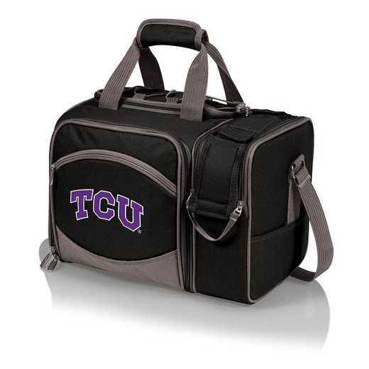 508-23-175-844-0: TCU Horned Frogs - Malibu Picnic Tote (Black)