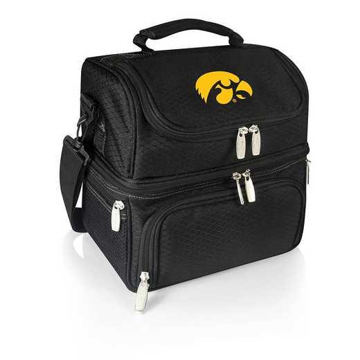 512-80-175-224-0: Iowa Hawkeyes - Pranzo Lunch Tote (Black)