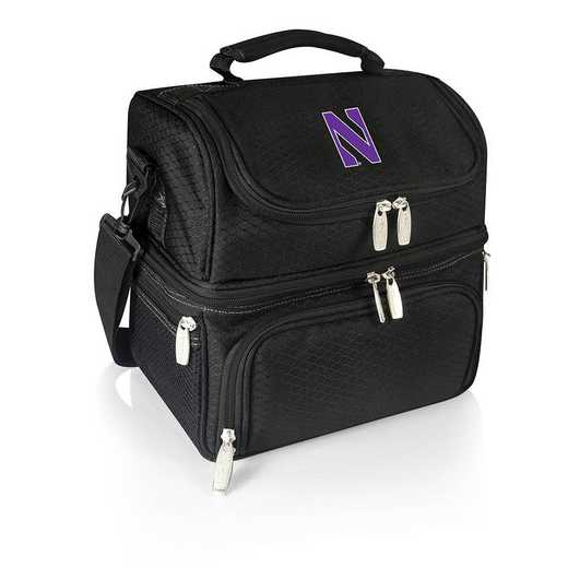 512-80-175-434-0: Northwestern Wildcats - Pranzo Lunch Tote (Black)