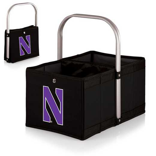 546-00-179-434-0: Northwestern Wildcats - Urban Basket (Black)