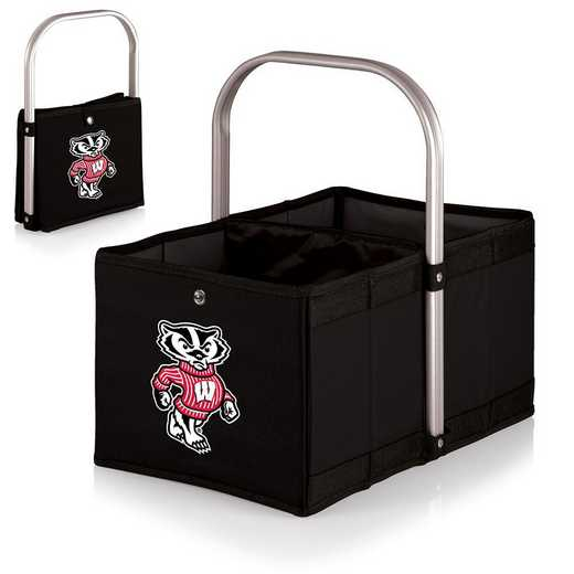 546-00-179-644-0: Wisconsin Badgers - Urban Basket (Black)
