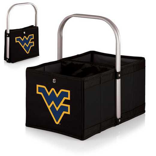 546-00-179-834-0: West Virginia Mountaineers - Urban Basket (Black)