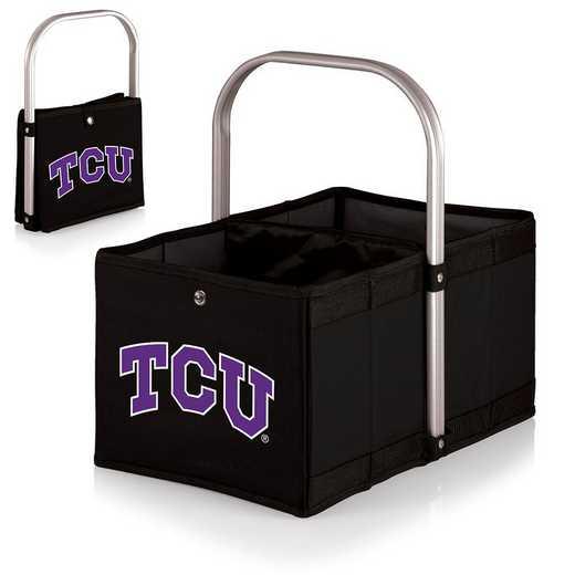 546-00-179-844-0: TCU Horned Frogs - Urban Basket (Black)