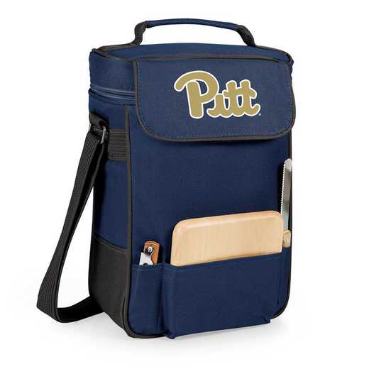 623-04-138-504-0: Pittsburgh Panthers - Duet Wine / Cheese Tote (Navy)