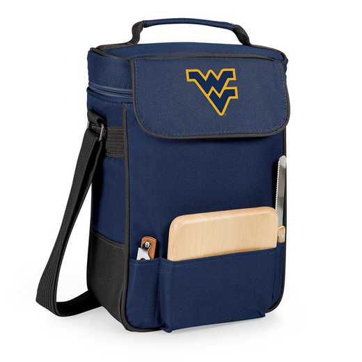 623-04-138-834-0: West Virginia Mountaineers - Duet Wine / Cheese Tote (Navy)