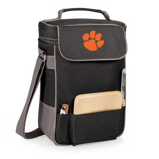 623-04-175-104-0: Clemson Tigers - Duet Wine / Cheese Tote (Black)