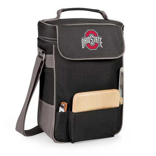 623-04-175-444-0: Ohio State Buckeyes - Duet Wine / Cheese Tote (Black)