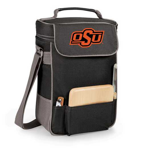 623-04-175-464-0: Oklahoma State Cowboys - Duet Wine / Cheese Tote (Black)