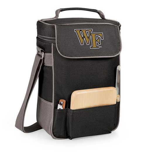 623-04-175-614-0: Wake Forest Demon Deacons -Duet Wine / Cheese Tote (Black)
