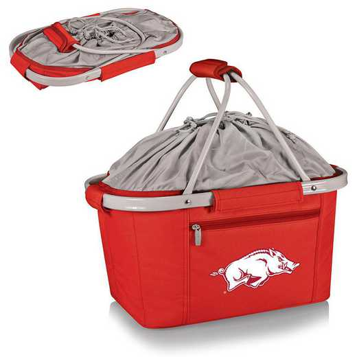 645-00-100-034-0: Arkansas Razorbacks - Metro Basket Cllpsbl Tote (Red)