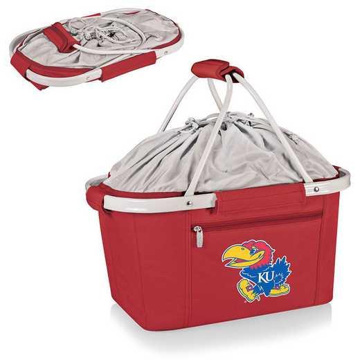 645-00-100-244-0: Kansas Jayhawks - Metro Basket Cllpsbl Tote (Red)