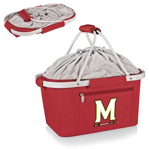 645-00-100-314-0: Maryland Terrapins - Metro Basket Cllpsbl Tote (Red)