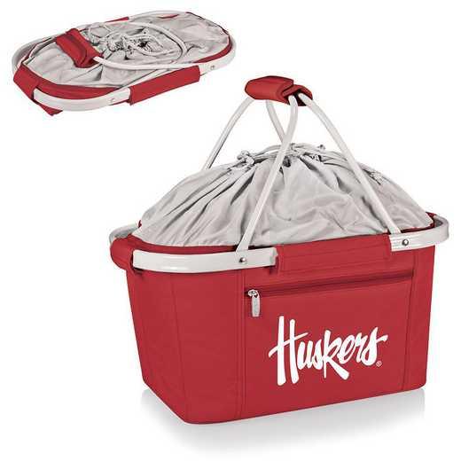645-00-100-404-0: Nebraska Cornhuskers - Metro Basket Cllpsbl Tote (Red)