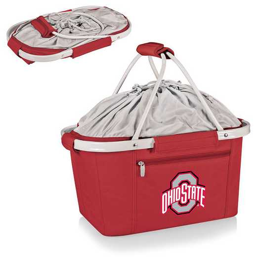 645-00-100-444-0: Ohio State Buckeyes - Metro Basket Cllpsbl Tote (Red)