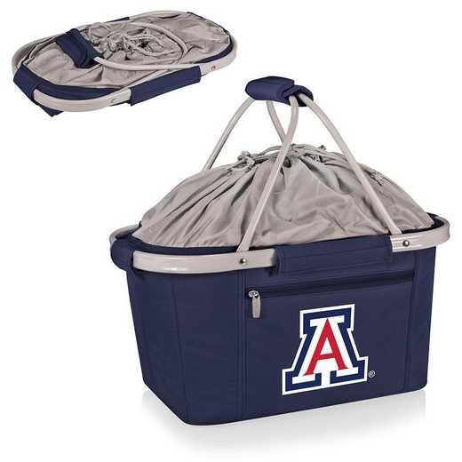 645-00-138-014-0: Arizona Wildcats - Metro Basket Cllpsbl Tote (Navy)