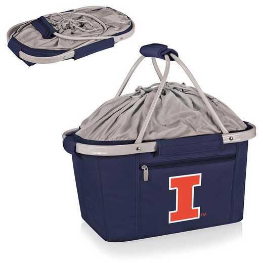 645-00-138-214-0: Illinois Fighting Illini - Metro Basket Cllpsbl Tote (Navy)