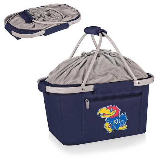 645-00-138-244-0: Kansas Jayhawks - Metro Basket Cllpsbl Tote (Navy)