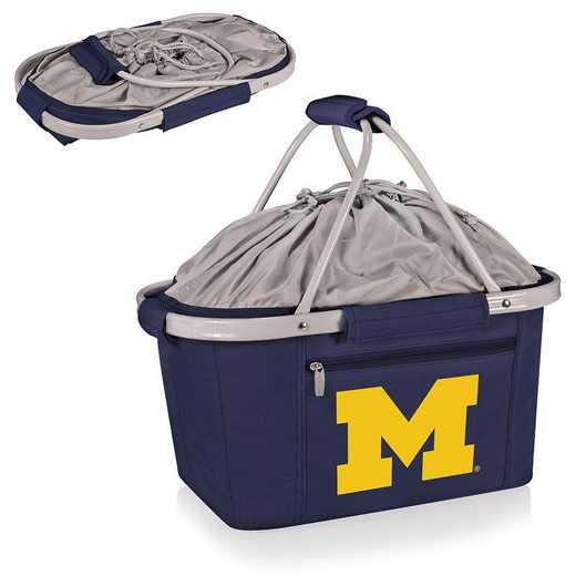 645-00-138-344-0: Michigan Wolverines - Metro Basket Cllpsbl Tote (Navy)