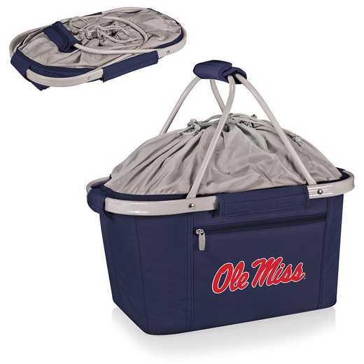 645-00-138-374-0: Ole Miss Rebels - Metro Basket Cllpsbl Tote (Navy)