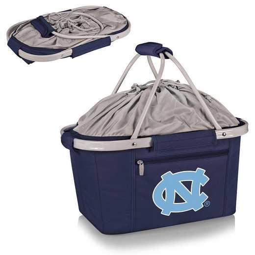 645-00-138-414-0: North Carolina Tar Heels - Metro Basket Cllpsbl Tote (Navy)