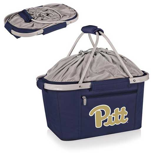 645-00-138-504-0: Pittsburgh Panthers - Metro Basket Cllpsbl Tote (Navy)