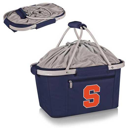 645-00-138-544-0: Syracuse Orange - Metro Basket Cllpsbl Tote (Navy)