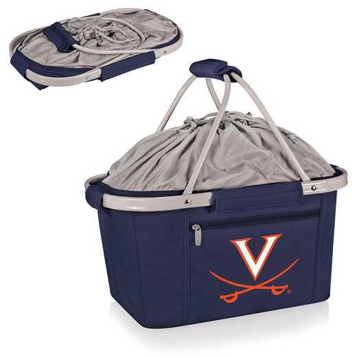 645-00-138-594-0: Virginia Cavaliers - Metro Basket Cllpsbl Tote (Navy)