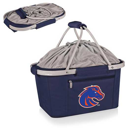 645-00-138-704-0: Boise State Broncos - Metro Basket Cllpsbl Tote (Navy)