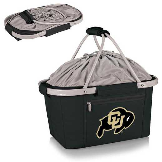 645-00-175-124-0: Colorado Buffaloes - Metro Basket Cllpsbl Tote (Black)