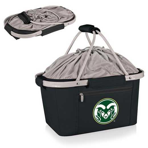 645-00-175-134-0: Colorado State Rams - Metro Basket Cllpsbl Tote (Black)