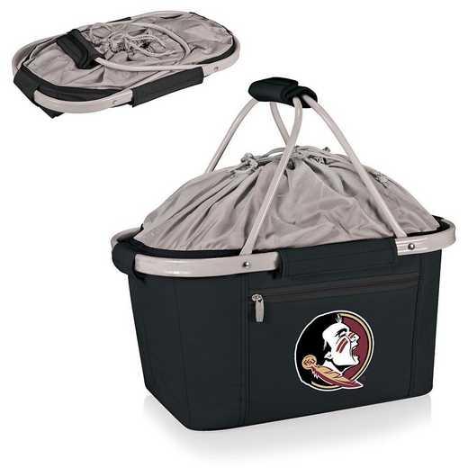 645-00-175-174-0: Florida State Seminoles - Metro Basket Cllpsbl Tote (Black)