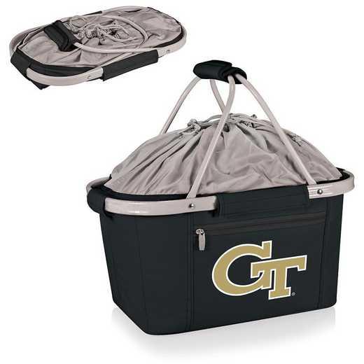 645-00-175-194-0: Georgia Tech Yellow Jackets Metro Basket Cllpsbl Tote(Black)