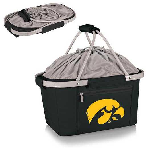 645-00-175-224-0: Iowa Hawkeyes - Metro Basket Cllpsbl Tote (Black)