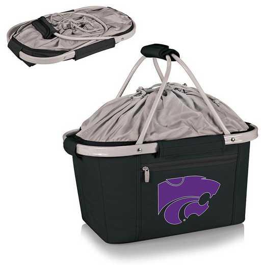 645-00-175-254-0: Kansas State Wildcats - Metro Basket Cllpsbl Tote (Black)