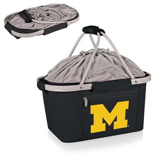 645-00-175-344-0: Michigan Wolverines - Metro Basket Cllpsbl Tote (Black)