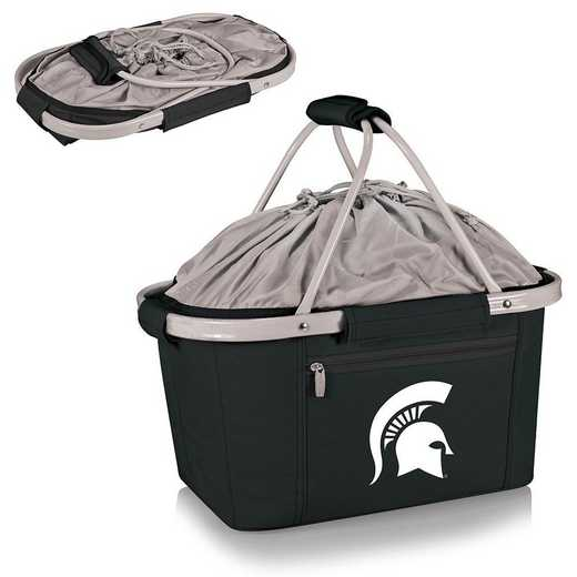 645-00-175-354-0: Michigan State Spartans - Metro Basket Cllpsbl Tote (Black)