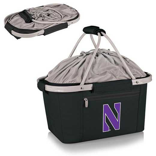 645-00-175-434-0: Northwestern Wildcats - Metro Basket Cllpsbl Tote (Black)