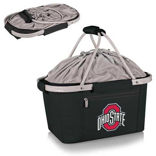 645-00-175-444-0: Ohio State Buckeyes - Metro Basket Cllpsbl Tote (Black)