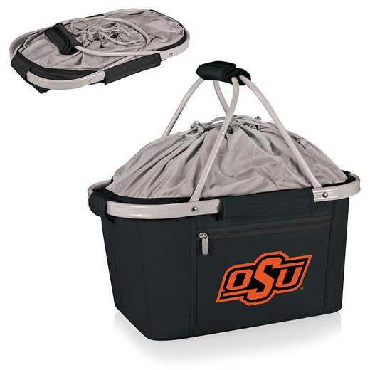 645-00-175-464-0: Oklahoma State Cowboys - Metro Basket Cllpsbl Tote (Black)