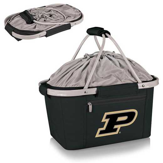 645-00-175-514-0: Purdue Boilermakers - Metro Basket Cllpsbl Tote (Black)