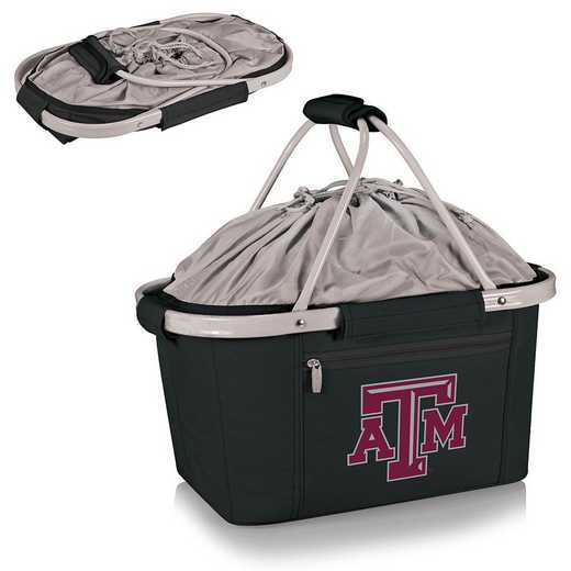 645-00-175-564-0: Texas A&M Aggies - Metro Basket Cllpsbl Tote (Black)