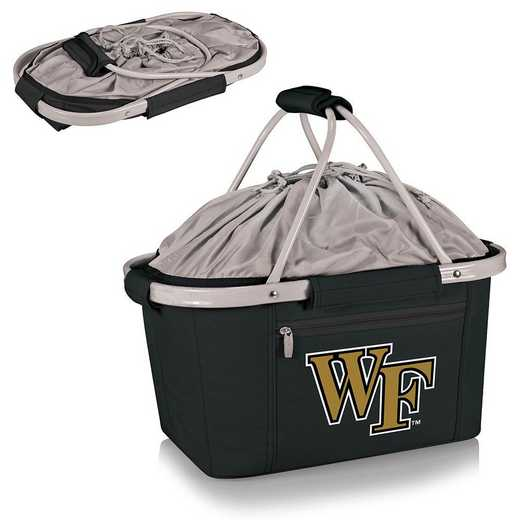 645-00-175-614-0: Wake Forest Demon Deacons -Metro Basket Cllpsbl Tote (Black)
