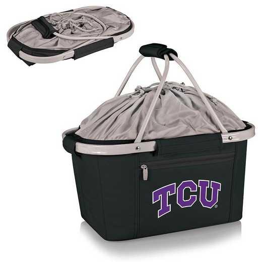 645-00-175-844-0: TCU Horned Frogs - Metro Basket Cllpsbl Tote (Black)