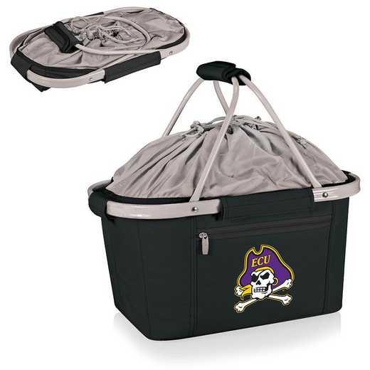 645-00-175-874-0: East Carolina Pirates - Metro Basket Cllpsbl Tote (Black)