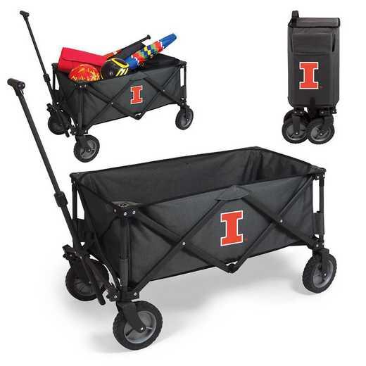 739-00-679-214-0: Illinois Fighting Illini - Adventure Wagon (Dark Grey)