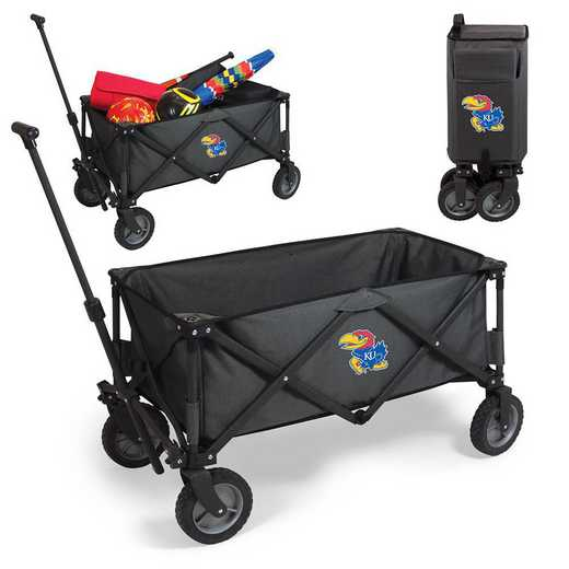 739-00-679-244-0: Kansas Jayhawks - Adventure Wagon (Dark Grey)