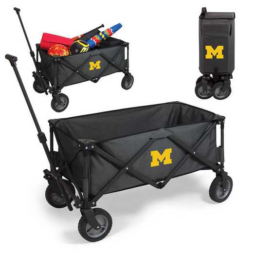 739-00-679-344-0: Michigan Wolverines - Adventure Wagon (Dark Grey)