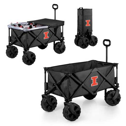 741-85-679-214-0: Illinois Fighting Illini - Adventure Wagon Elite (Dark Grey)