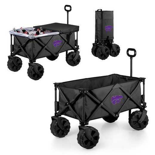 741-85-679-254-0: Kansas State Wildcats - Adventure Wagon Elite (Dark Grey)